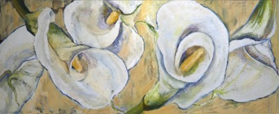 oil painting calla lilies flowers