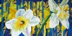 oil painting daffodils flowers