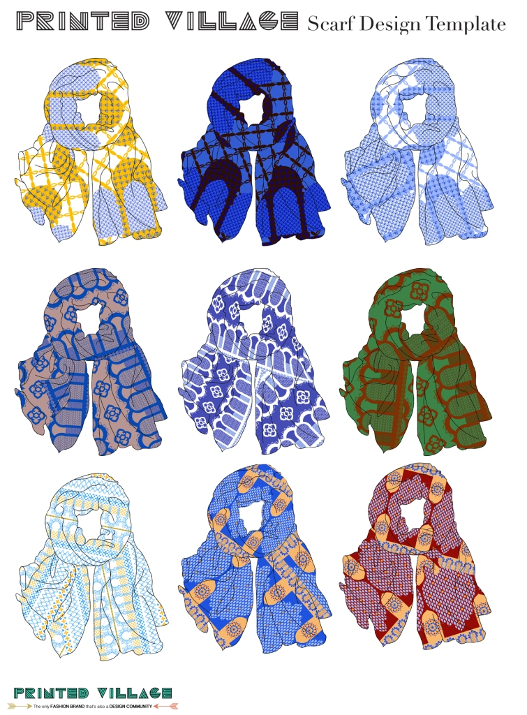 Scarf designs for Moroccan Doorways Theme