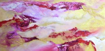 "Red Desert #1 oil on canvas 48"" x 24"" $1,600"