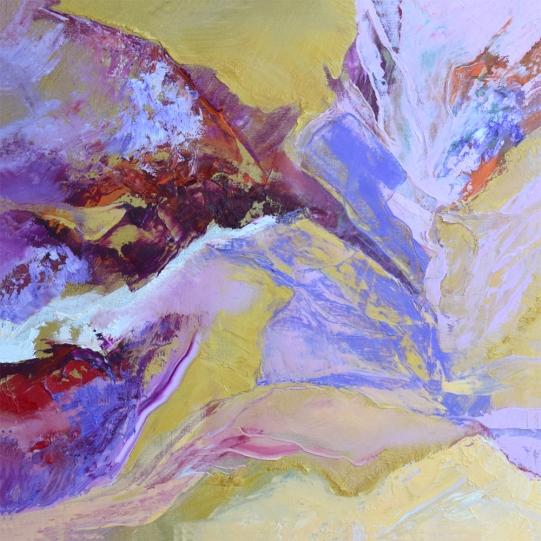 "Desert in Bloom #2.1 oil on canvas 24"" x 24"" $800"