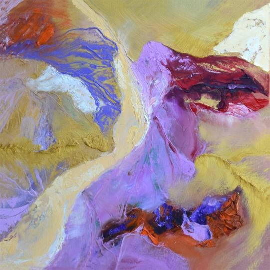 "Desert in Bloom #2.2 oil on canvas 24"" x 24"" $800"