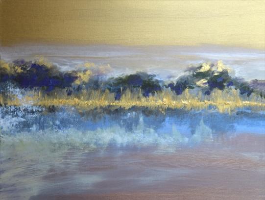 "Morning Fog Mixed media on canvas 40"" x 30"" $1,660"