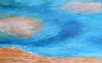 "White Sand oil on canvas 48"" x 30"" $2,000"