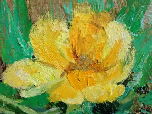 In golden light detail