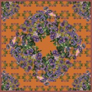 Asters on Orange FALL2015